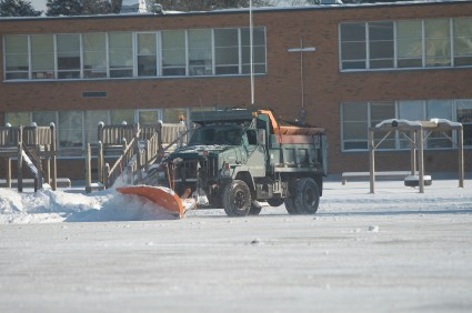 Commercial snow removal in Norfolk MA by Clean Slate Landscape & Property Management, LLC